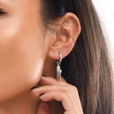 Women's Angel Wings Earrings in White Gold