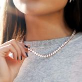 Women's 5mm Tennis Chain in Rose Gold