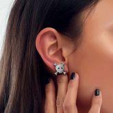 Women's Iced Skull and Crossbones Earrings