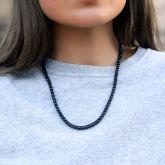 Women's 5mm Black Stones Tennis Chain in Black Gold