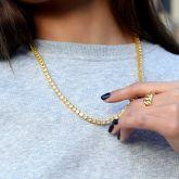 Women's 5mm Fancy Yellow Stones Tennis Chain in Gold