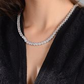 Women's 5mm Tennis Necklace in White Gold