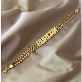 Personalized Double Chain Name Bracelet