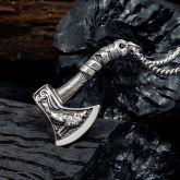 Viking Axe  Stainless Steel Pendant