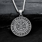 Viking Compass Stainless Steel Pendant