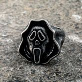 Scary Scream Ghost Face Stainless Steel Ring