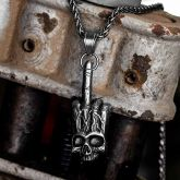 Middle Finger Gesture Hand Stainless Steel Pendant