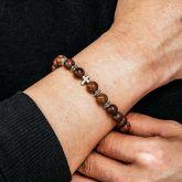 Men's Natural Wood Prayer Beads Bracelets