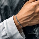 3mm Rope Solid 925 Sterling Silver Bracelet
