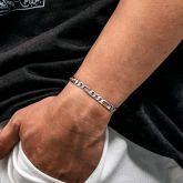 5mm Figaro Solid 925 Sterling Silver Bracelet