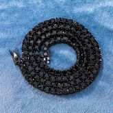 5mm Black Stones 18K Black Gold Tennis Chain