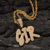 Custom Cursive Name Necklace in Gold