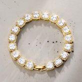 10mm Clustered Tennis Bracelet in Gold