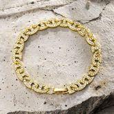 8mm Iced G-link Bracelet in Gold