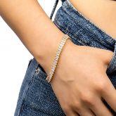Women's Baguette Cut Bracelet in Gold