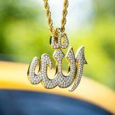 Iced Muslim Allah Pendant