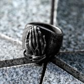 Holy Praying Hands Stainless Steel Ring
