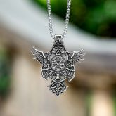Vegvisir Celtic Eagle Stainless Steel Pendant