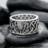 Classic Celtic Stainless Steel Ring