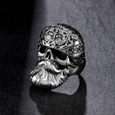 Vintage Pirate Skull Stainless Steel Ring