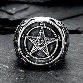 Pentagram Satanic  Stainless Steel Ring