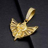 Iced Triangle Sacred Hawk Pendant