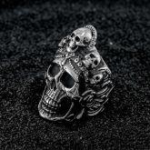 Satan Muerte Death Skull Stainless Steel Ring