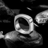 Classical Simple Plain Dome Stainless Steel Ring