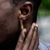 Two-tone Skull Asymmetric Earrings