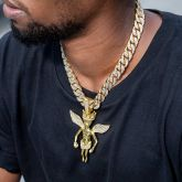 Iced 18K Gold 13mm Cuban Chain