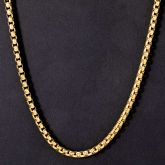 5mm 18K Gold Finish Round Box Chain