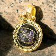 "Iced Black Mamba ""24"" basketball Ouroboros pendant in Gold"