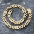 14mm Baguette G-link Cuban Chain in Gold