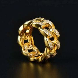 Iced Cuban Ring in Gold