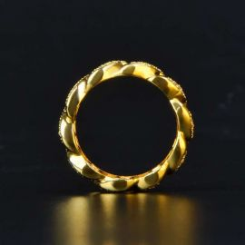 18K Gold Finish Ring In 925 Sterling Silver