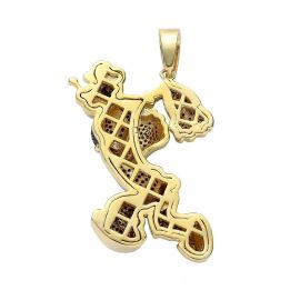 Iced  Muscular Sailor Pendant in Gold