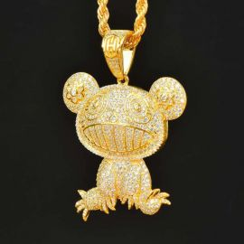 Gold Takashi Murakami Panda Pendant
