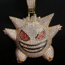 Big Iced Gengar Pendant in Gold