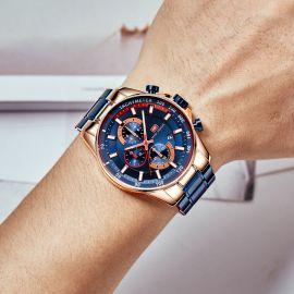 Men's Chronograph Calendar Luminous Waterproof with Metal Strap Watch