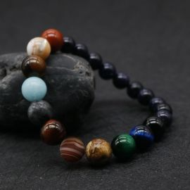 Fashion Natural Stone Universe Planets  Bead Bracelets