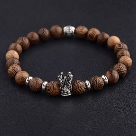 Men's Natural Wood Prayer Beads Bracelets