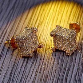 Iced Paved  Diamond Stud Earring