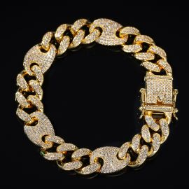 13mm Cuban G-Link Bracelet in Gold