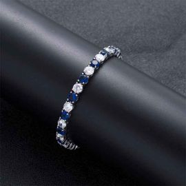 5mm Iced Two Tone Bracelet