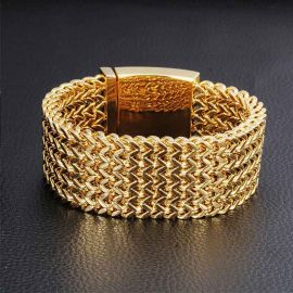30mm 5 Rows Franco Wide Bracelet