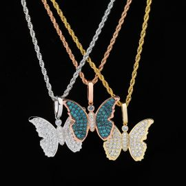 Iced Butterfly Pendant