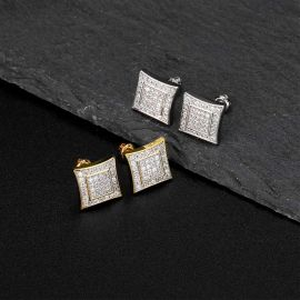 Iced Micro Pave Stud Earring