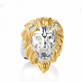 Stainless Steel Lion Head Ring