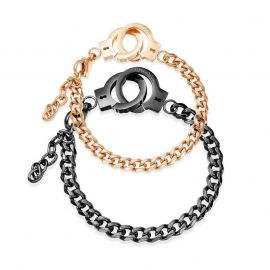 Handcuffs Couple Cuban Bracelet