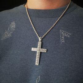 Colgante Cruz de Diamantes en plata